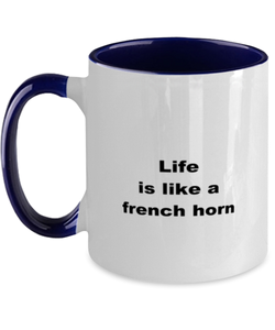 French horn coffee funny two-tone mug four colors 11oz women men