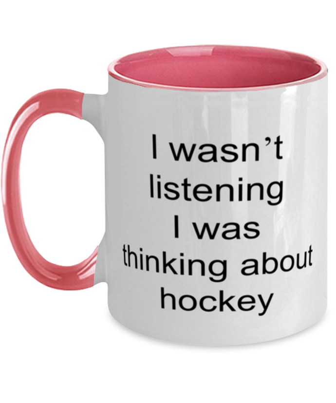 Hockey funny two-tone coffee mug four colors 11oz for women and men
