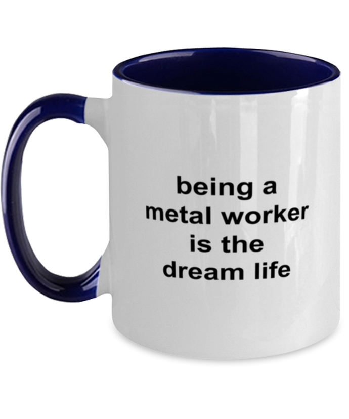 Metal worker funny two-tone coffee mug four colors 11oz for women and men