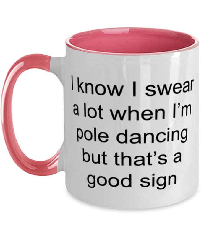 Pole dancing funny two-tone coffee mug four colors 11oz for women and men