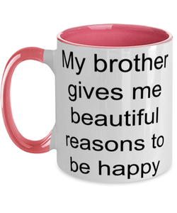 Brother funny two-tone coffee mug four colors 11oz for women and men