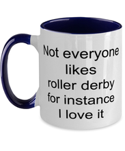 Load image into Gallery viewer, Roller derby funny two-tone coffee mug four colors 11oz for women and men