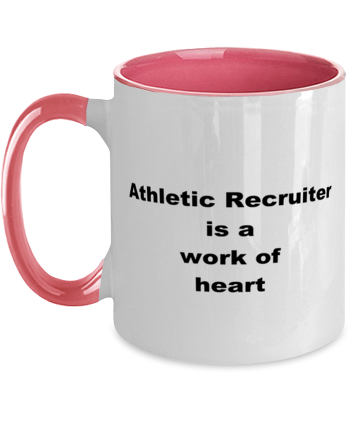 Athletic recruiter two-tone coffee mug novelty cup for women and men