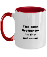 Load image into Gallery viewer, Firefighter two-tone coffee mug novelty cup for women and men