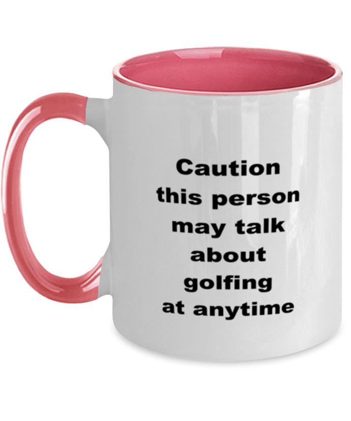 Golf two-tone coffee mug novelty cup for women and men