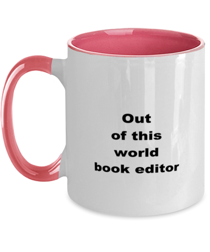 Book editor two-tone coffee mug novelty cup for women and men
