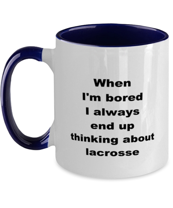 Lacrosse two-tone coffee mug novelty cup for women and men