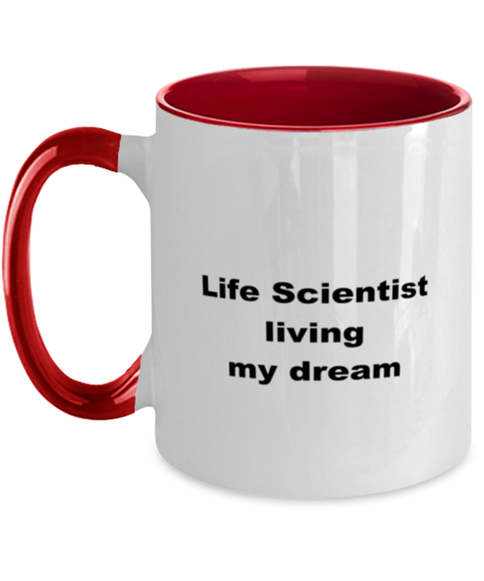 Life scientist two-tone coffee mug novelty cup for women and men