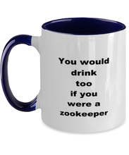 Load image into Gallery viewer, Zookeeper two-tone coffee mug novelty cup for women and men