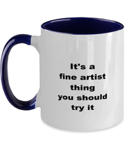 Load image into Gallery viewer, Artist two-tone coffee mug novelty cup for women and men