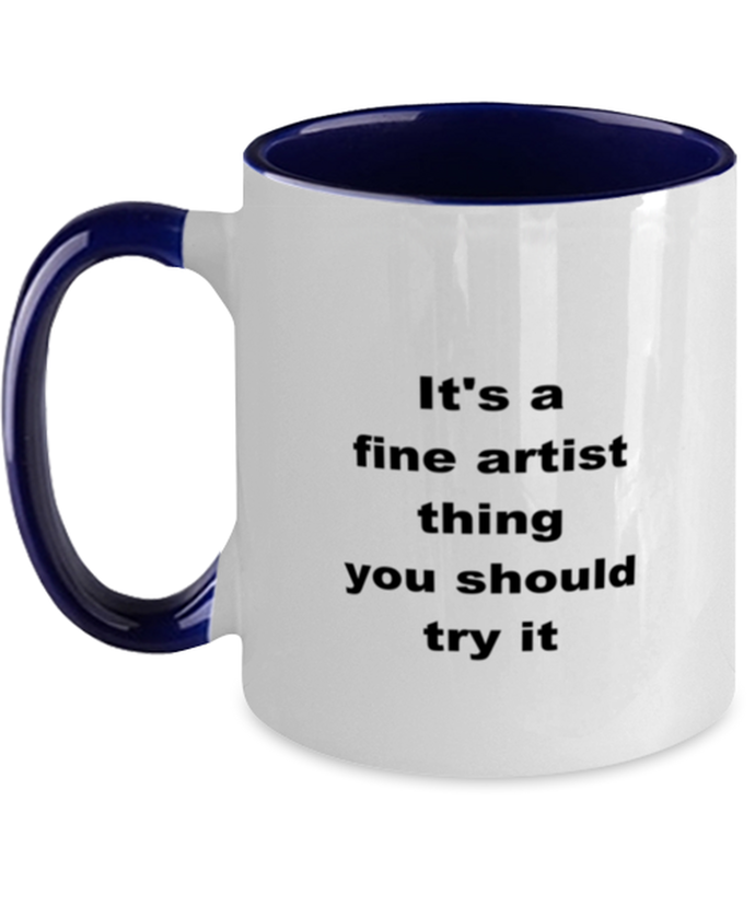 Artist two-tone coffee mug novelty cup for women and men