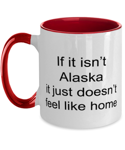 Alaska two-tone coffee mug novelty cup for women and men