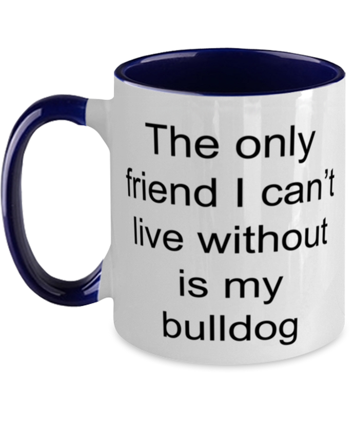 Bulldog two-tone coffee mug novelty cup for women and men