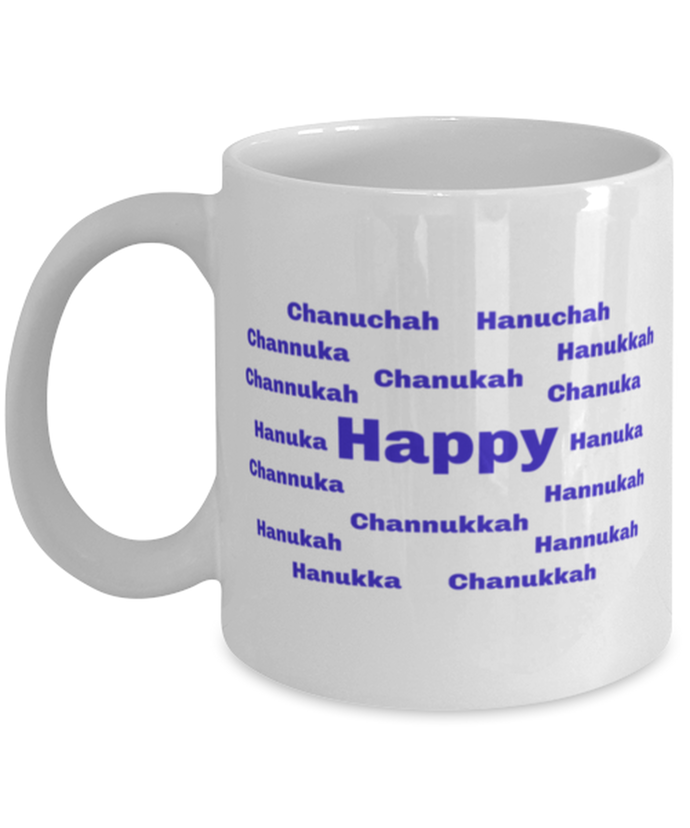 Happy Chanukah coffee mug cup for women or men
