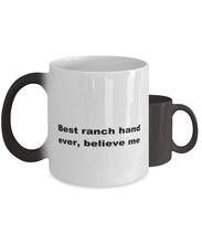 Load image into Gallery viewer, Best ranch hand ever, white coffee mug for women or men