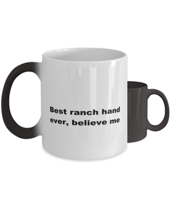 Best ranch hand ever, white coffee mug for women or men