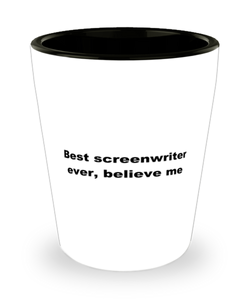 Best screenwriter ever, white coffee mug for women or men