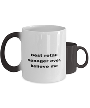 Load image into Gallery viewer, Best retail manager ever, white coffee mug for women or men