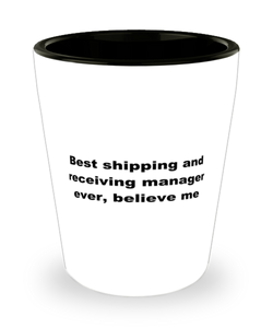 Best shipping and receiving manager ever, white coffee mug for women or men