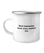 Load image into Gallery viewer, Best telemetry nurse Ever Camper Mug, White 12 oz For men or women