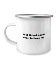 Load image into Gallery viewer, Best ticket agent Ever Camper Mug, White 12 oz For men or women