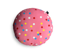 Load image into Gallery viewer, Pink spotty cushion