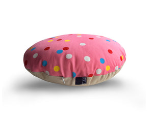Pink spotty cushion