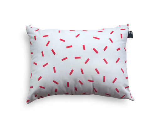Raspberry sprinkles cushion