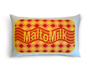 Malt-O-Milk cushion
