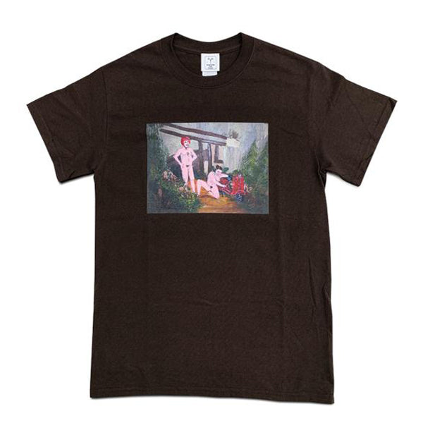 ALEXIS ROSS × S.F.P. T-SHIRT / BROWN