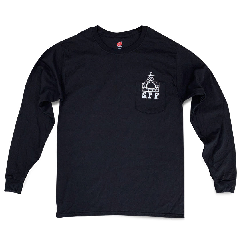 S.F.P.  POCKET LONG SLEEVE SHIRT / BLACK