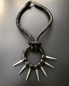 Metal Spike Choker Necklace