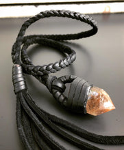 Load image into Gallery viewer, Leather & Crystal Lariat (SALE)