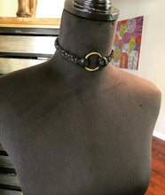Load image into Gallery viewer, Black Leather Ring Choker