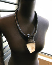 Load image into Gallery viewer, Leather Lattice & Crystal Necklace