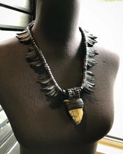 Load image into Gallery viewer, Leather Fringe & Labradorite Necklace