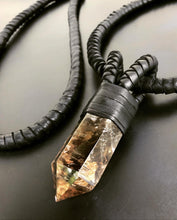 Load image into Gallery viewer, Crystal & Interchangeable Leather Rope Necklace