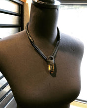 Load image into Gallery viewer, Smokey Citrine & Chain Necklace w/ Leather