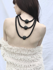 Leather & Bead Tiered Necklace