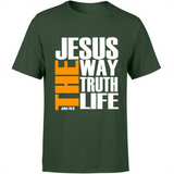 Christian Evangelism Quotes Jesus The Way The Truth The Life Custom Graphic Design Gift Ideas For men And Women