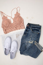 Load image into Gallery viewer, Lacey and Layered Bralette in Misty Rose