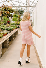 Load image into Gallery viewer, Don't Blink Pink & Ivory Striped Dress