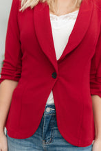 Load image into Gallery viewer, Acting Like A Lady Blazer in Red