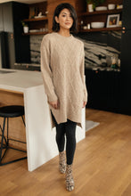 Load image into Gallery viewer, Diamond Details Sweater Dress/Tunic in Beige