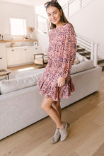 Load image into Gallery viewer, Fancy Me Floral Dress in Mauve