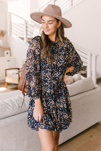Load image into Gallery viewer, Fancy Me Floral Dress in Navy