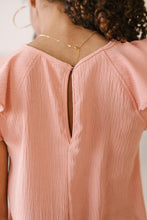 Load image into Gallery viewer, Light and Linen Top in Coral