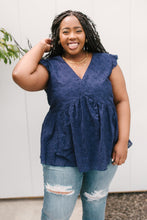 Load image into Gallery viewer, Lucy Eyelets Top in Navy