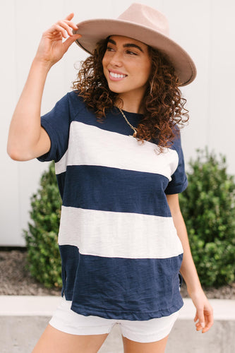 Modern Brenton Top in Navy