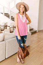 Load image into Gallery viewer, Stripes N Lace Top In Pink